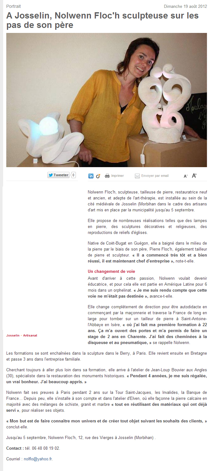 Article ouest-france Nolwenn Floc'h